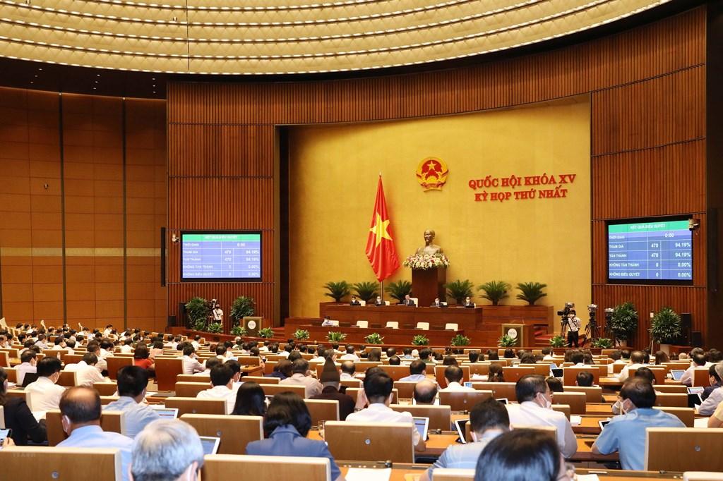 QH thông qua Nghị quyết về cơ cấu tổ chức Chính phủ nhiệm kỳ 2021-2026