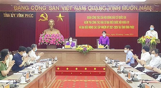 Vinh Phuc: Cong tac chuan bi bau cu bao dam tien do, dung quy dinh hinh anh 1