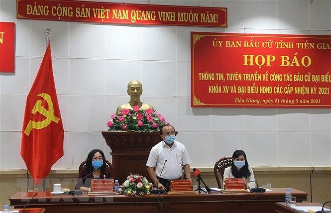 Tien Giang chuan bi san sang, bao dam an toan cho cu tri di bo phieu hinh anh 1