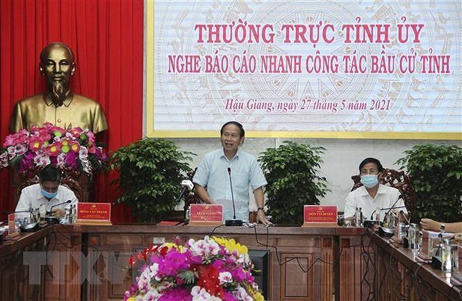Bao cao cong tac bau cu tai Hau Giang, Binh Duong, Vinh Long, Lao Cai hinh anh 1