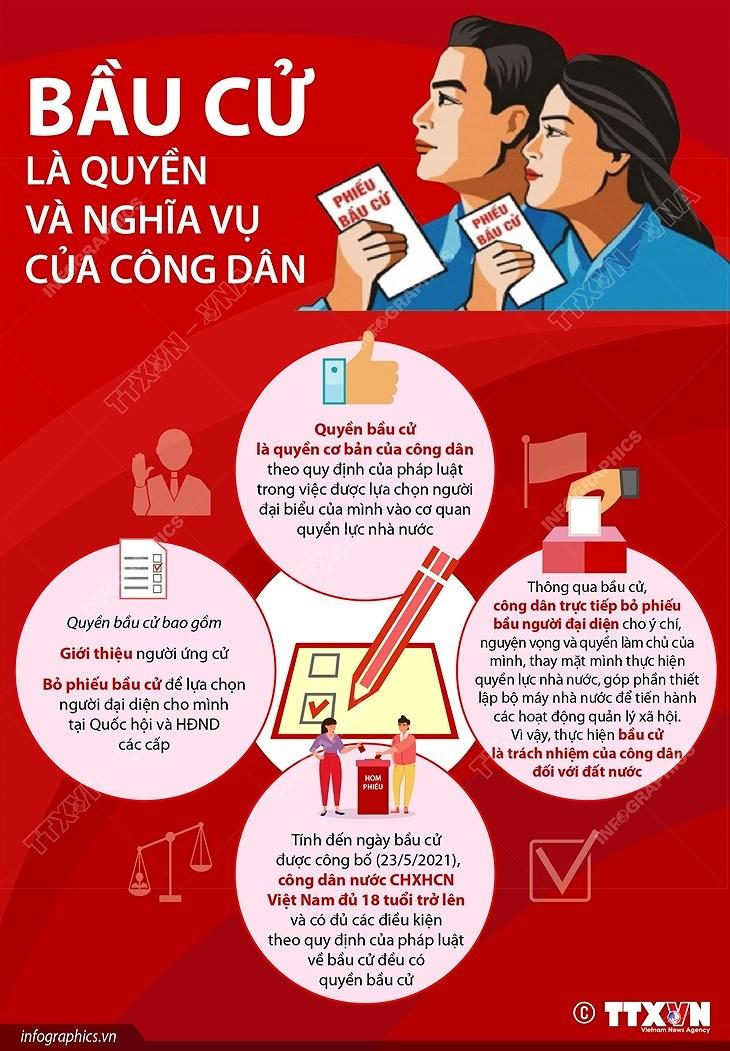 [Infographics] Bau cu la quyen va nghia vu cua cong dan hinh anh 1