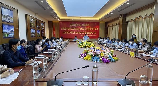 Kiem tra, giam sat cong tac bau cu tai hai tinh Ninh Binh va Quang Tri hinh anh 1