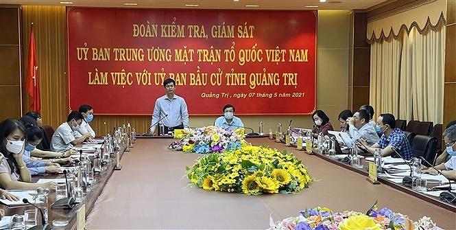 Kiem tra, giam sat cong tac bau cu tai hai tinh Ninh Binh va Quang Tri hinh anh 2