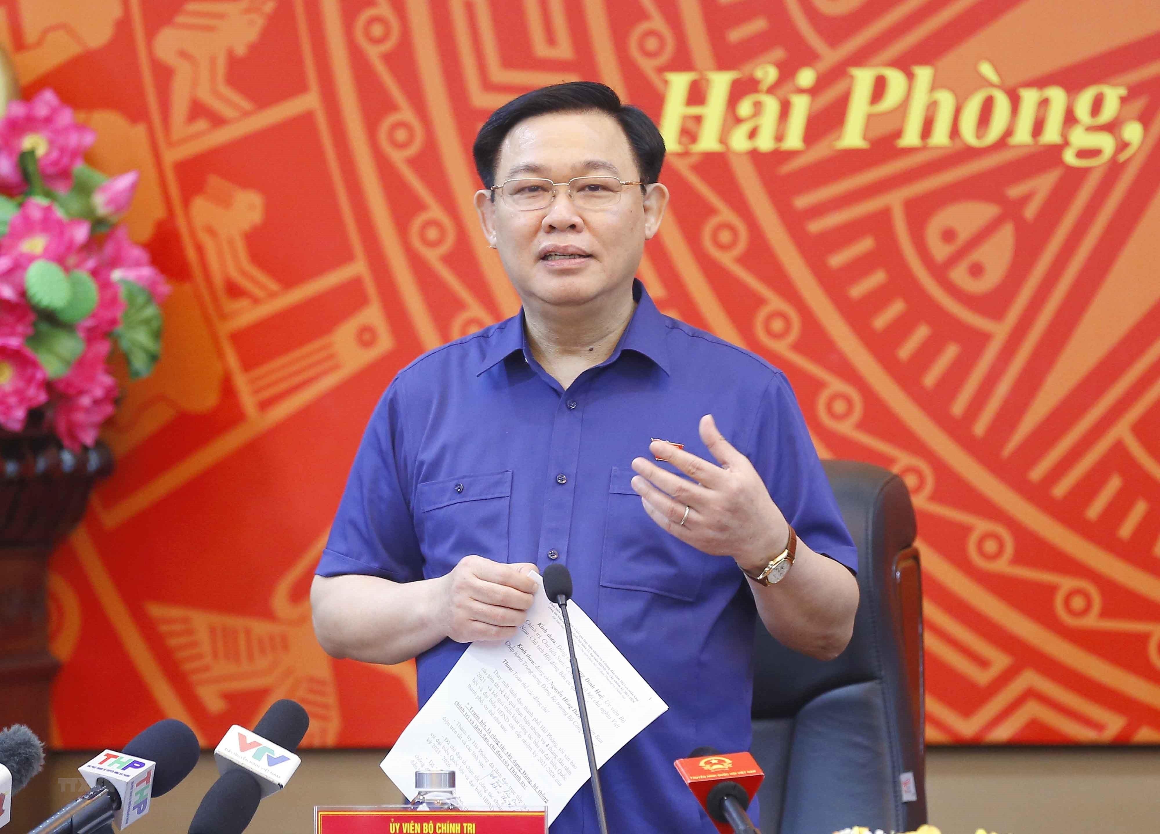 Chu tich Quoc hoi lam viec voi Ban Thuong vu Thanh uy Hai Phong hinh anh 11
