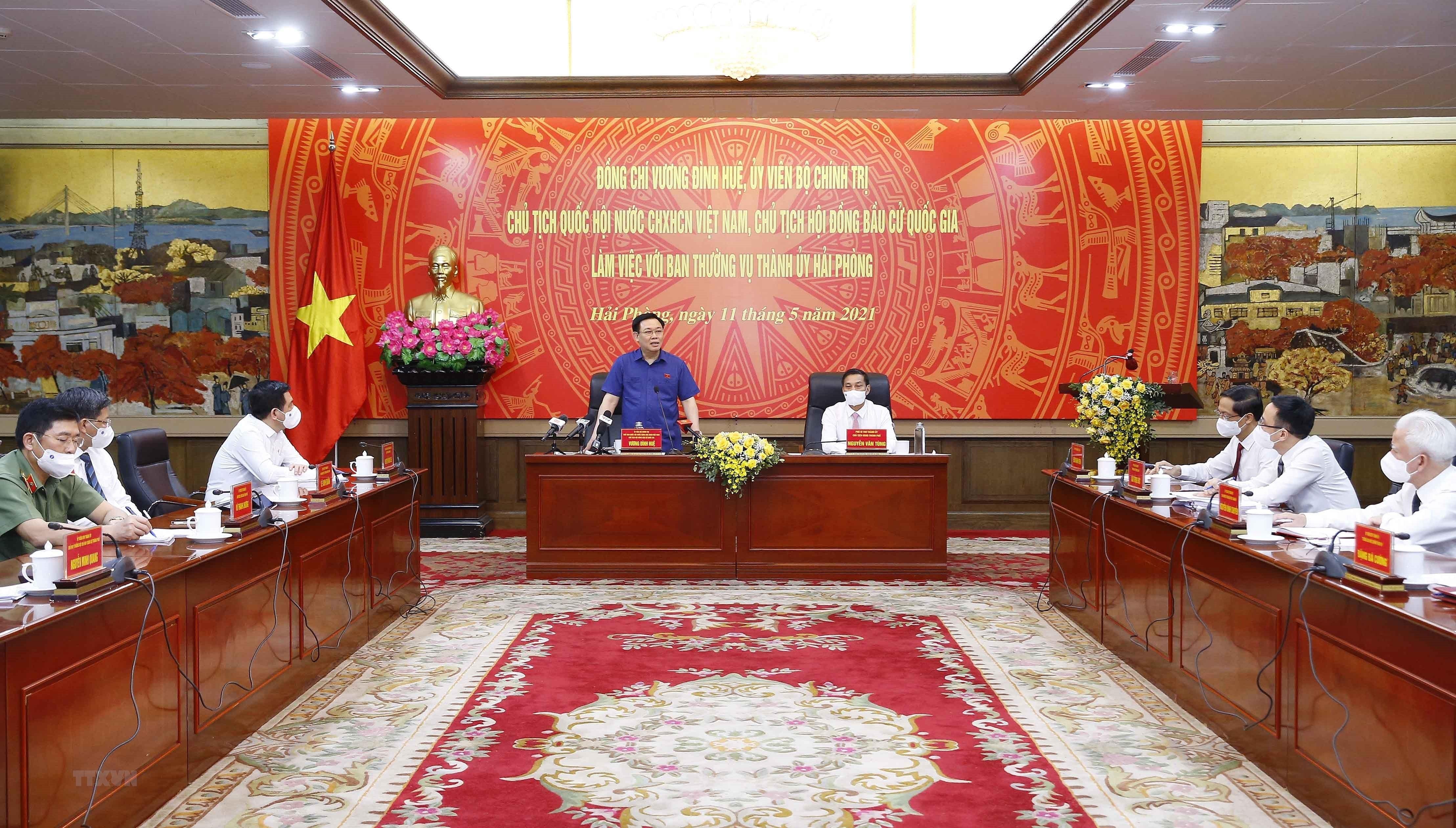 Chu tich Quoc hoi lam viec voi Ban Thuong vu Thanh uy Hai Phong hinh anh 8