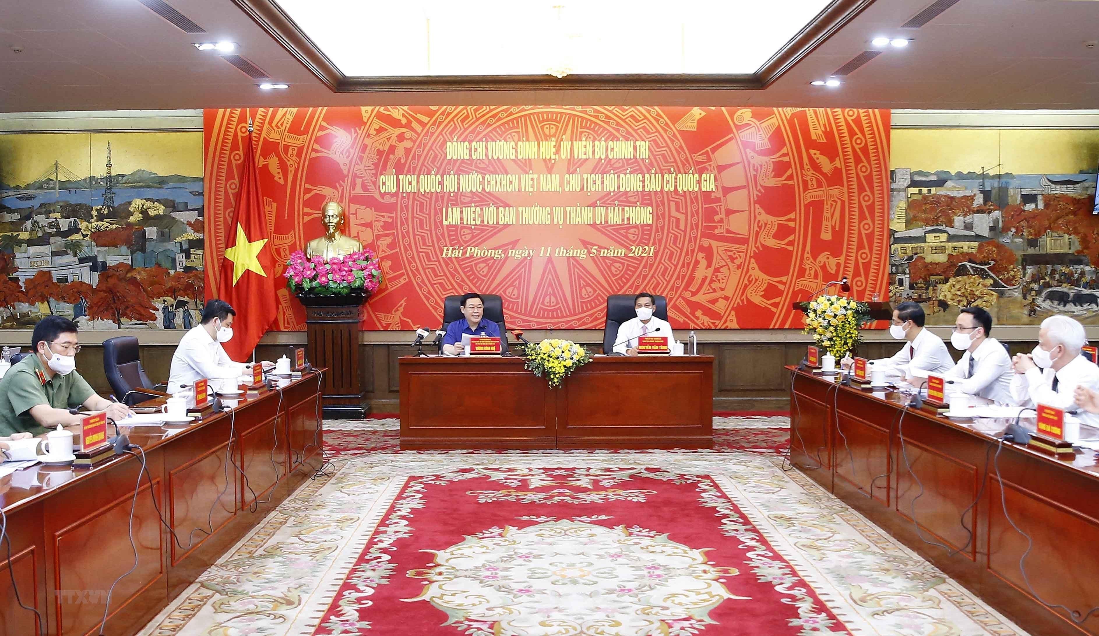 Chu tich Quoc hoi lam viec voi Ban Thuong vu Thanh uy Hai Phong hinh anh 3