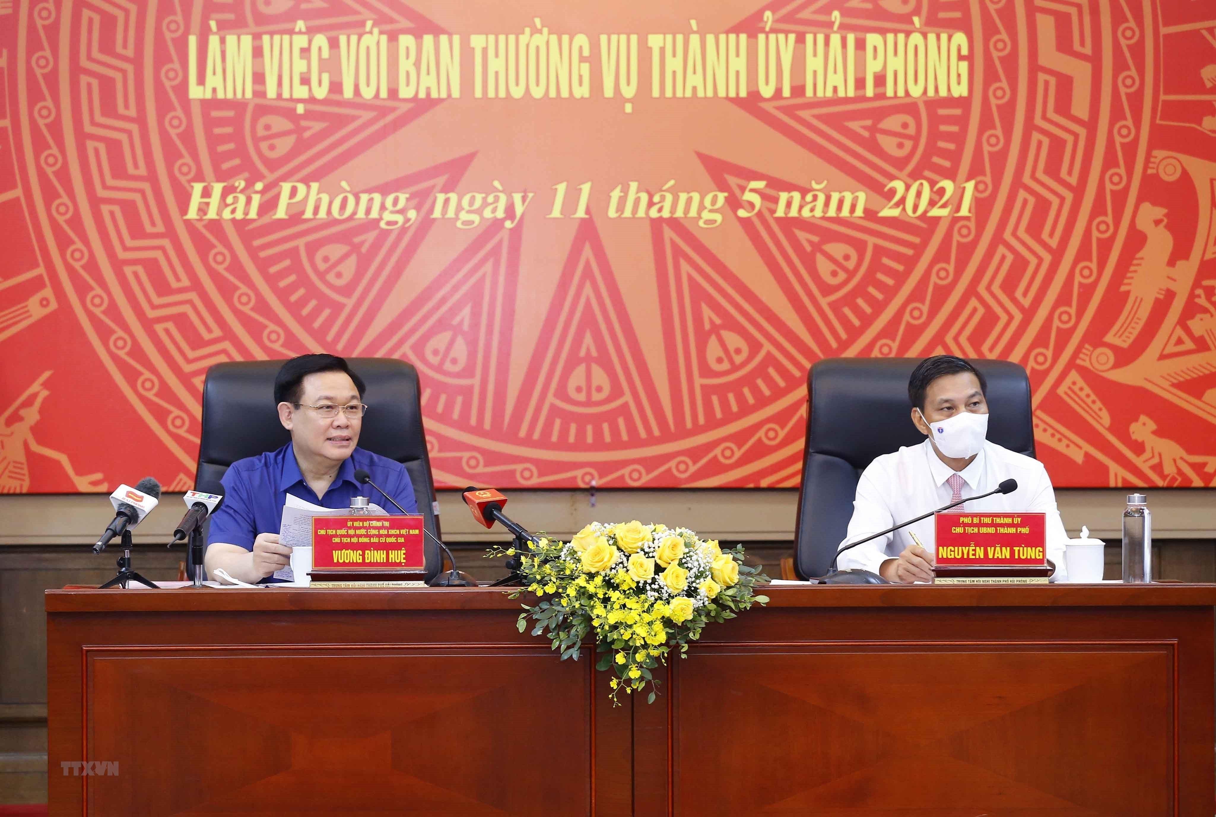 Chu tich Quoc hoi lam viec voi Ban Thuong vu Thanh uy Hai Phong hinh anh 4