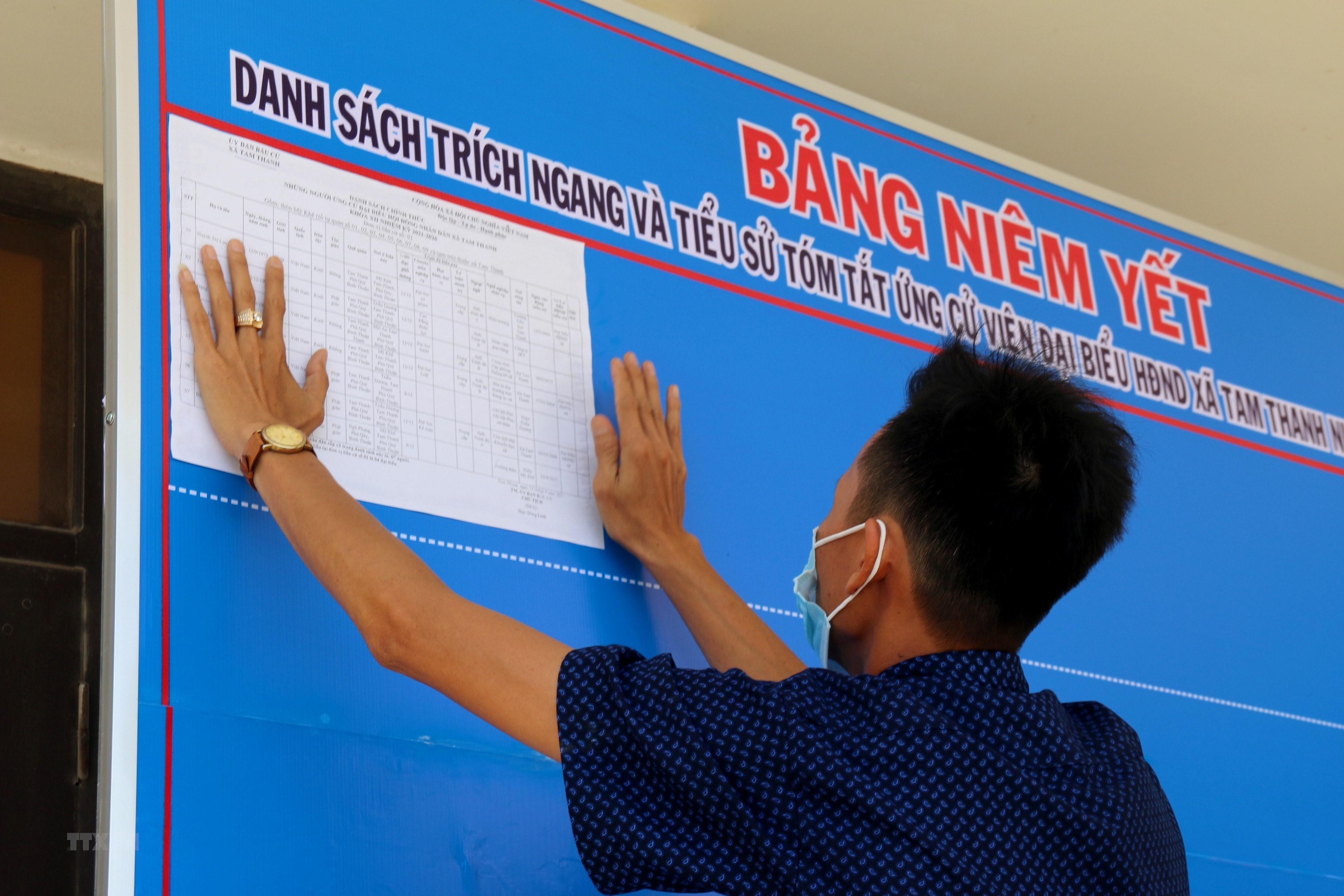 [Photo] Binh Thuan: Huyen dao Phu Quy san sang cho ngay bau cu hinh anh 1