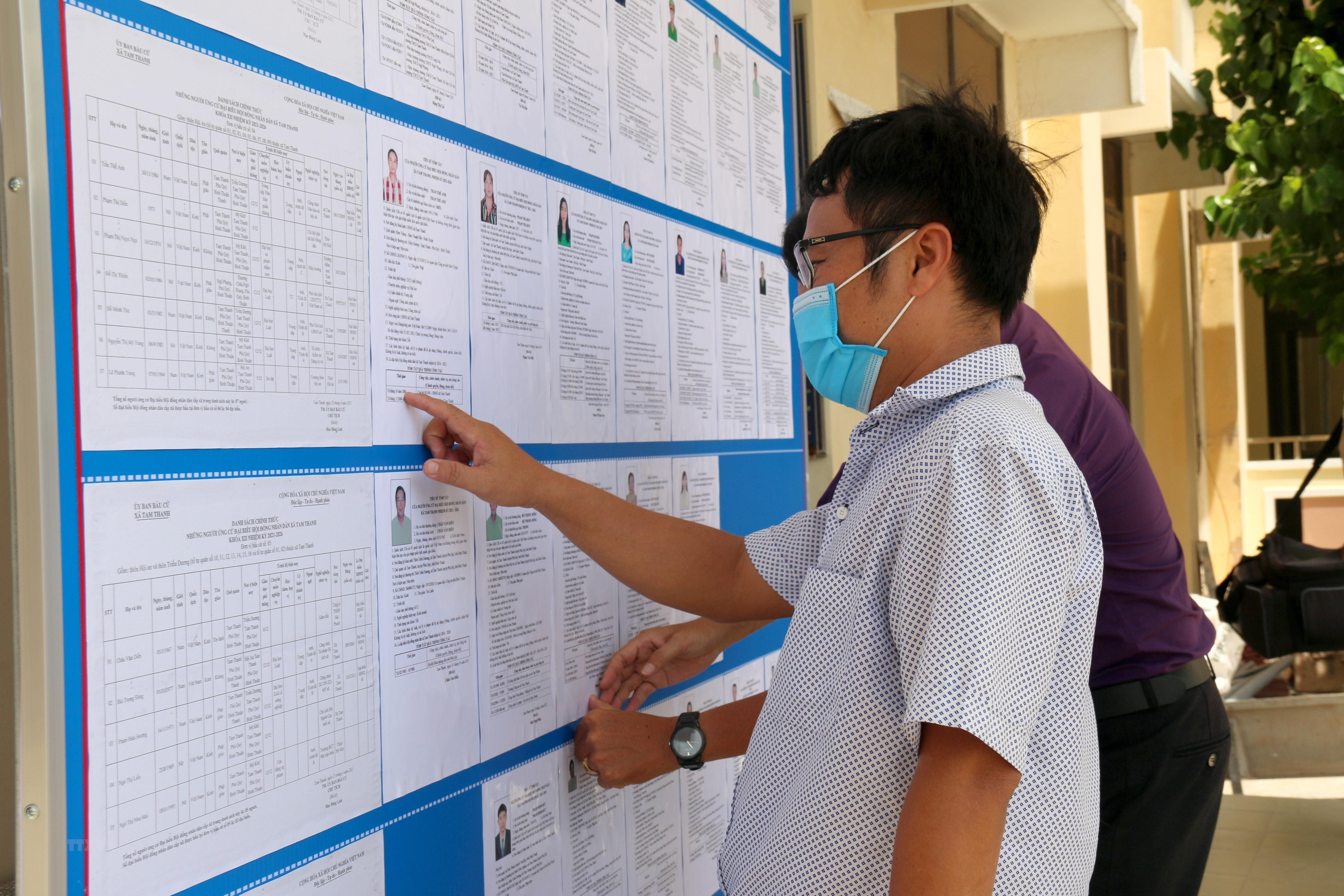 [Photo] Binh Thuan: Huyen dao Phu Quy san sang cho ngay bau cu hinh anh 3