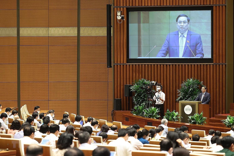QH thong qua Nghi quyet ve co cau to chuc Chinh phu nhiem ky 2021-2026 hinh anh 10