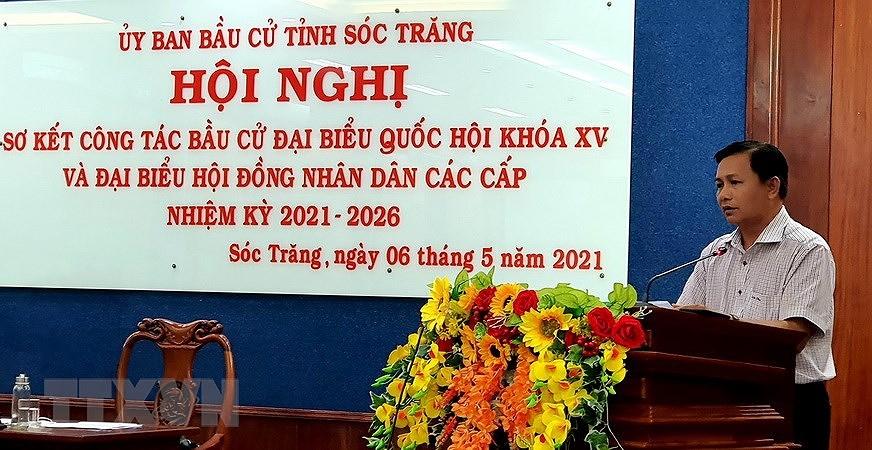 Soc Trang so ket buoc 1 ve thuc hien cong tac bau cu cac cap hinh anh 1
