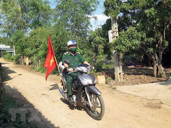 Bo doi Bien phong Son La day manh tuyen truyen bau cu o vung bien hinh anh 2