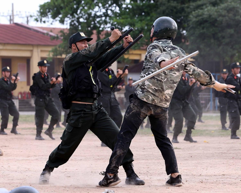 Luc luong CSCD thuc binh phuong an dam bao an ninh trat tu cuoc bau cu hinh anh 17