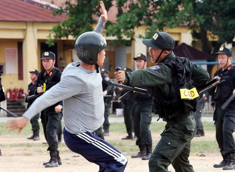 Luc luong CSCD thuc binh phuong an dam bao an ninh trat tu cuoc bau cu hinh anh 20