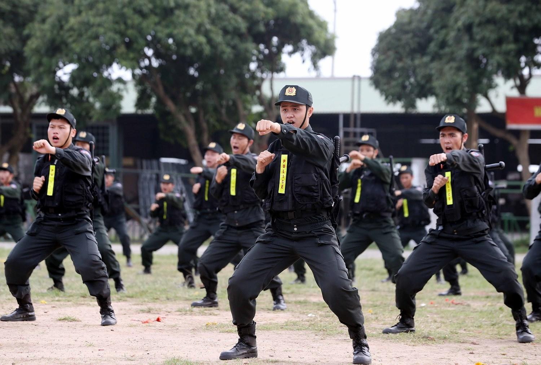 Luc luong CSCD thuc binh phuong an dam bao an ninh trat tu cuoc bau cu hinh anh 21