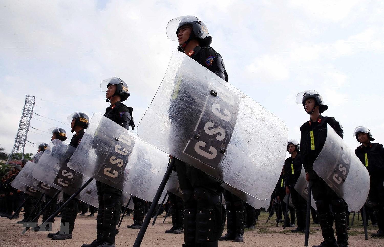 Luc luong CSCD thuc binh phuong an dam bao an ninh trat tu cuoc bau cu hinh anh 22