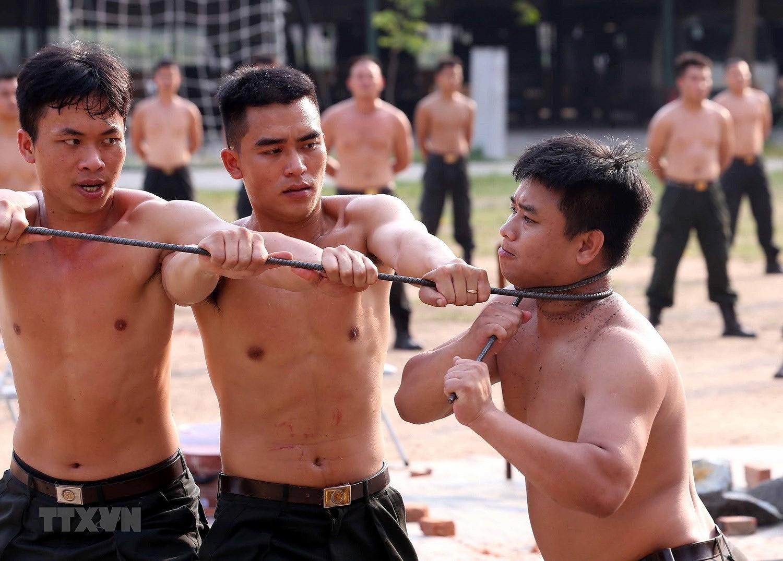 Luc luong CSCD thuc binh phuong an dam bao an ninh trat tu cuoc bau cu hinh anh 14