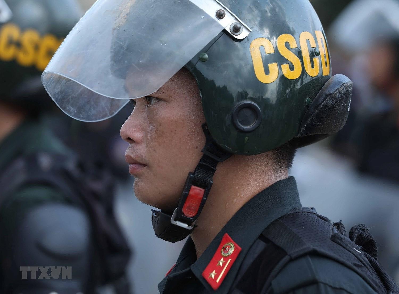 Luc luong CSCD thuc binh phuong an dam bao an ninh trat tu cuoc bau cu hinh anh 15