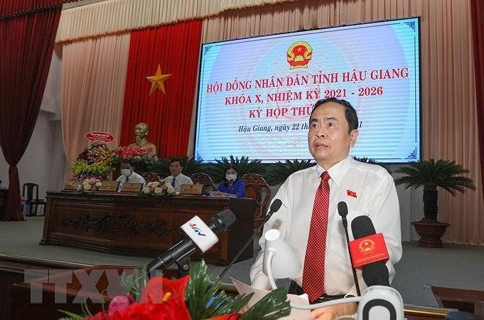 Pho Chu tich QH Tran Thanh Man du ky hop thu nhat HDND tinh Hau Giang hinh anh 1