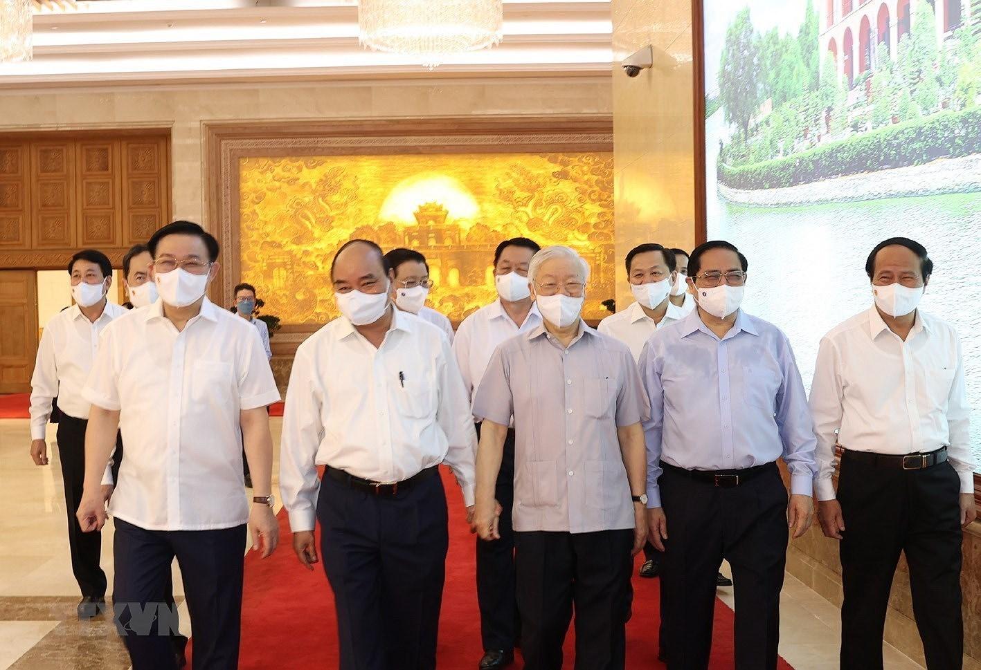 Tong Bi thu du Phien hop dau tien cua Chinh phu nhiem ky 2021-2026 hinh anh 3