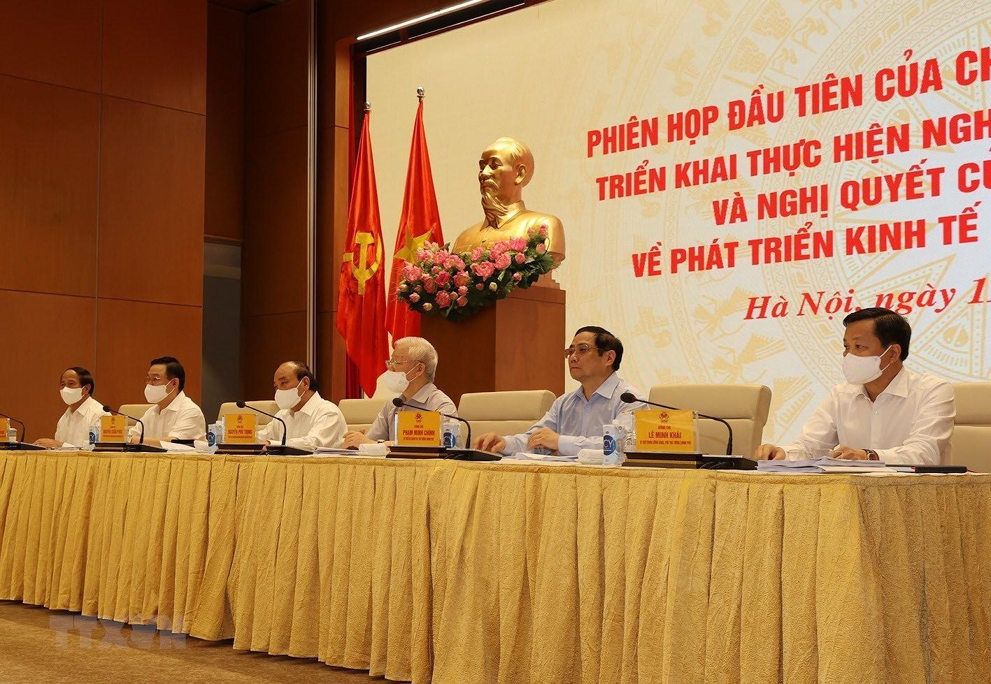 Tong Bi thu du Phien hop dau tien cua Chinh phu nhiem ky 2021-2026 hinh anh 7