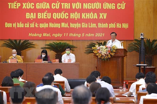 Cu tri Ha Noi danh gia cao chuong trinh hanh dong cua ung cu vien hinh anh 1