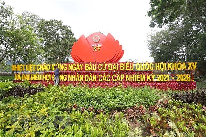 Bau cu Quoc hoi va Hoi dong Nhan dan: Ha Noi han hoan don ngay hoi lon hinh anh 1