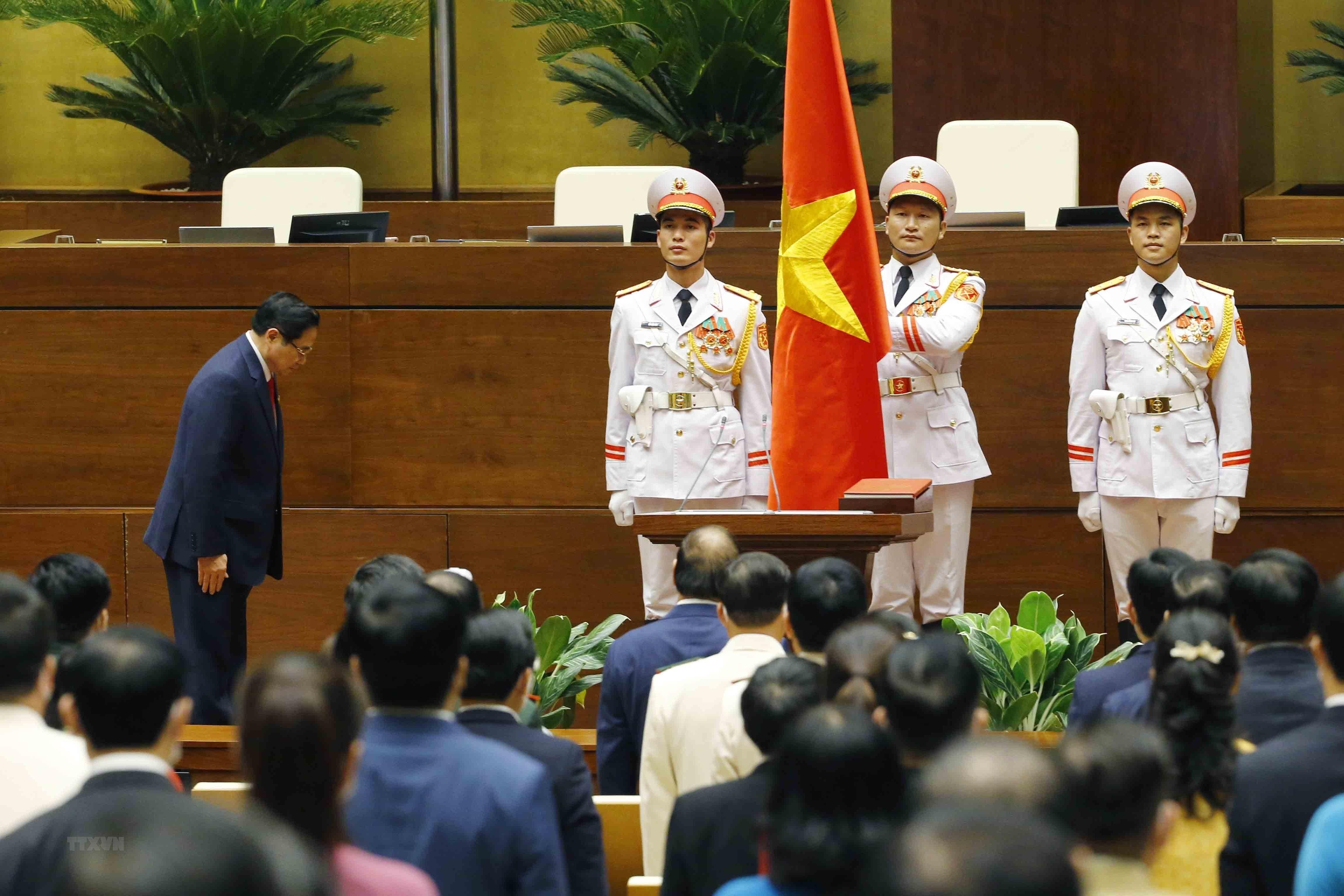 Hinh anh ong Pham Minh Chinh nham chuc Thu tuong Chinh phu hinh anh 7