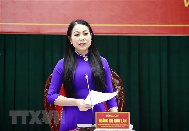Ba Hoang Thi Thuy Lan tai dac cu Chu tich HDND tinh Vinh Phuc hinh anh 1