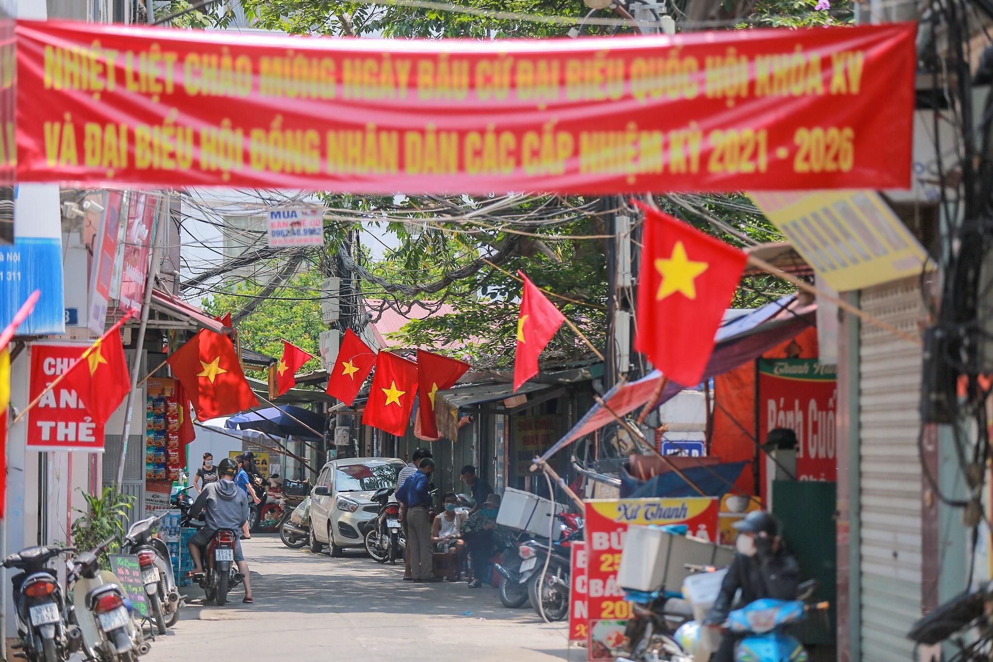 Pho phuong Ha Noi ruc ro co hoa chao don ngay hoi trong dai toan quoc hinh anh 19
