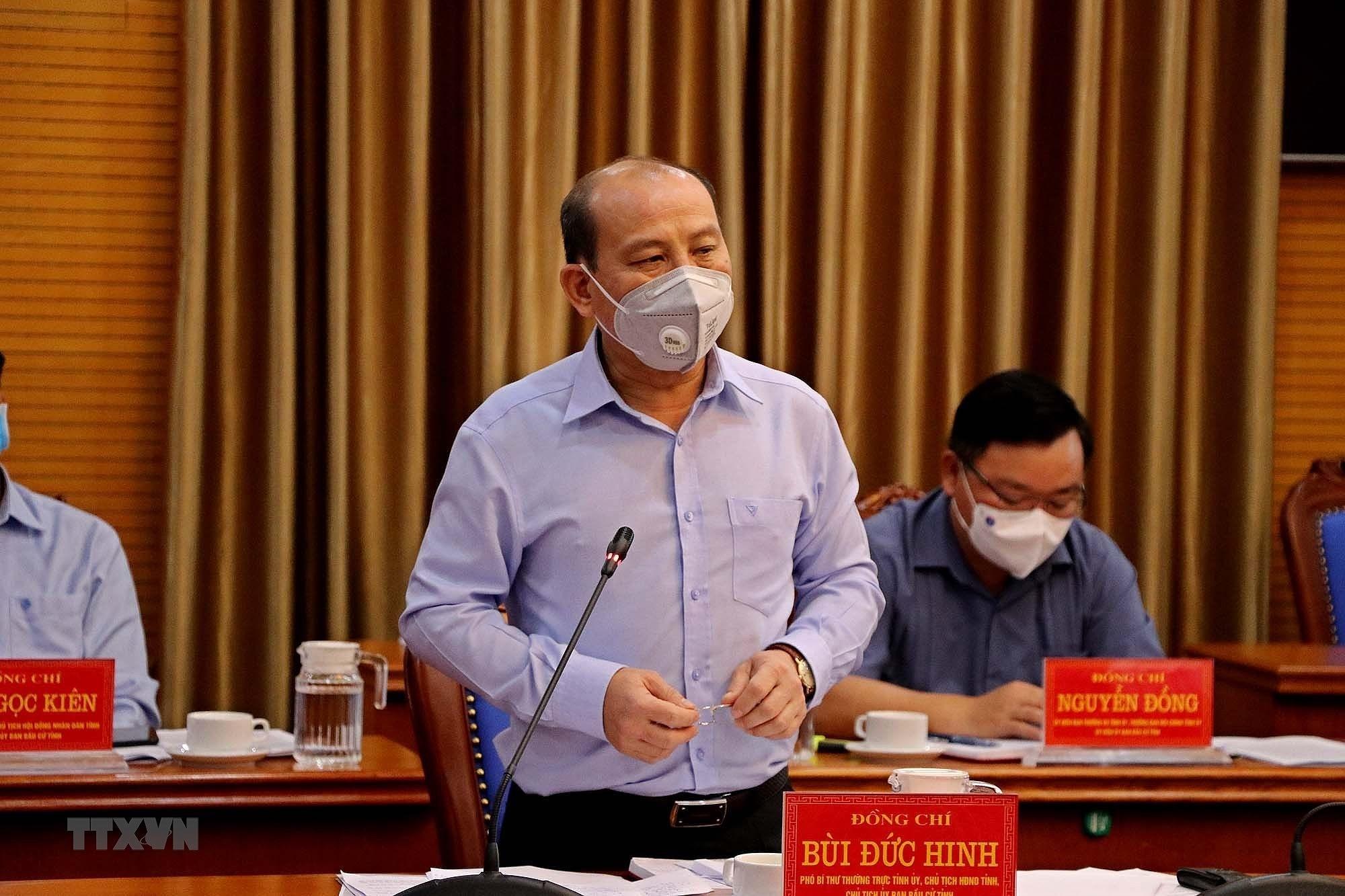 Hoa Binh: Cong tac bau cu Quoc hoi va HDND dam bao dung tien do hinh anh 1