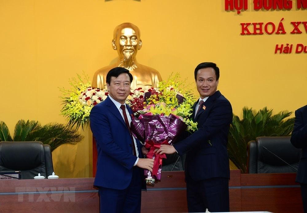 Ong Pham Xuan Thang tai dac cu Chu tich HDND tinh Hai Duong khoa XVII hinh anh 2