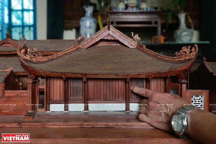组图:越南最小的东京油楠村亭模型 hinh anh 1