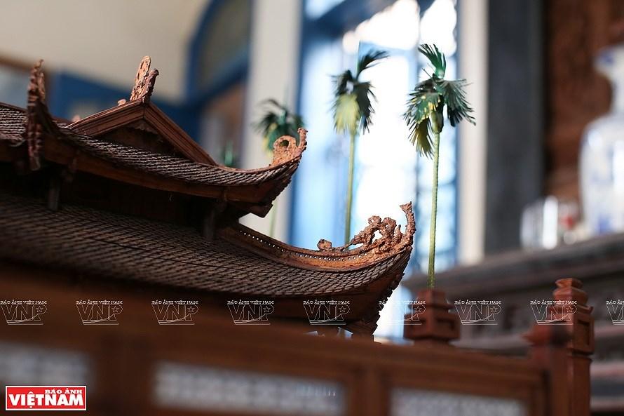 组图:越南最小的东京油楠村亭模型 hinh anh 8