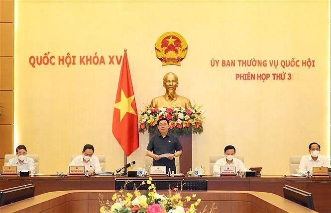越南第十五届国会常务委员会第三次会议开幕 hinh anh 1