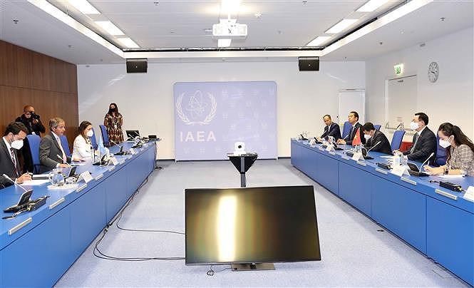 Top Vietnamese legislator meets with IAEA leader hinh anh 2