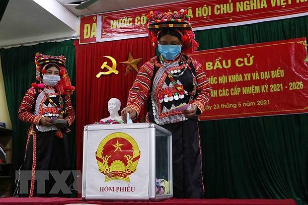 Les Vietnamiens votent pour les 15es legislatives hinh anh 3