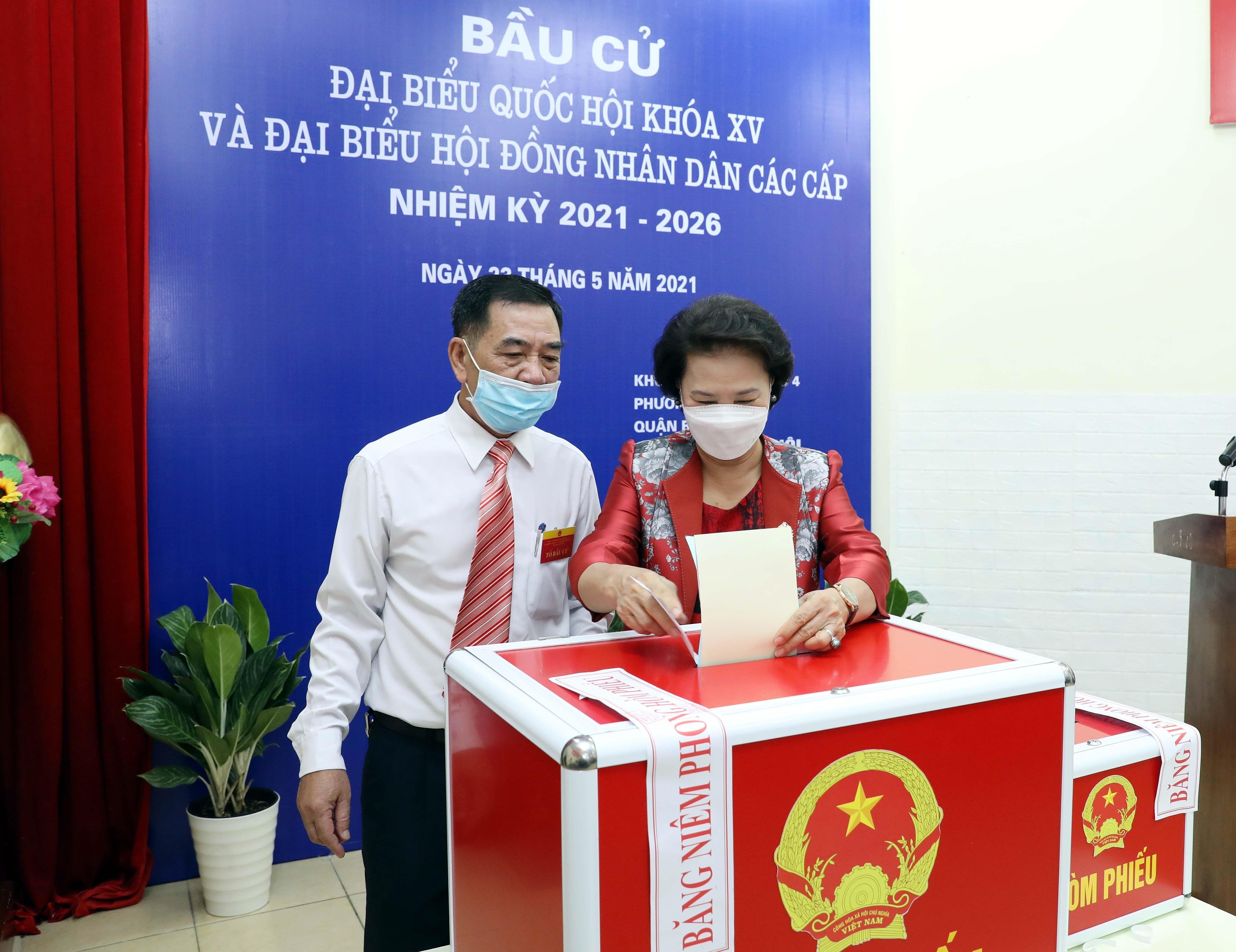 Les Vietnamiens votent pour les 15es legislatives hinh anh 5