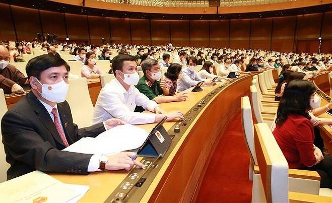 L'AN approuve la resolution sur la structure organisationnelle du gouvernement avec 27 membres hinh anh 1